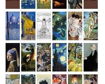 Famous Art - laminated flashcards