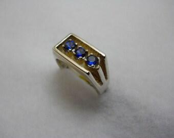 Ceylon Blue Sapphires set in Sterling Silver