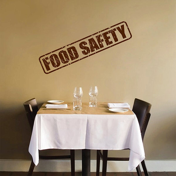 Kik2829 wall decal sticker food safety kitchen restaurant - Stickers protection cuisine ...