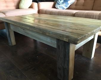Distressed ambrosia maple coffe table