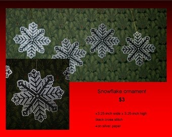 Snowflake Cross Stitch Ornament