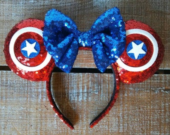 Avengers - Captain America Inspired Ears