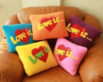 handmade pillow Love is...