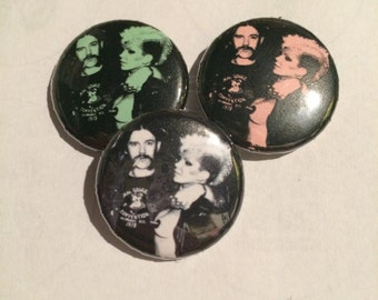 "Lemmy and Wendy O 1"" button"