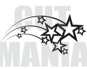Digital Cut File : Shooting Stars