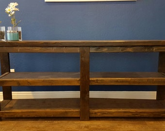 Hand Made Solid Wood Sofa Table