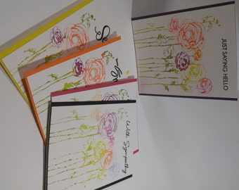 Set of 5 Watercolor Greeting Cards