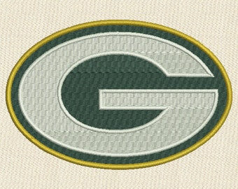 Green Bay Packers NFL Football Logo Fill Embroidery Design