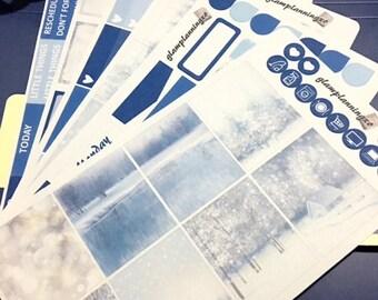 Winter wonderland - planner sticker kit for Erin Condren Life Planner