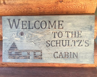 Burned Wood Welcome/Address Signs
