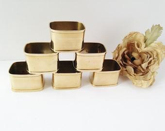 Brass Napkin Rings / Brass Table Decor / Napkin Rings / Brass Dinner Napkin Rings / Brass Tableware / Vintage Brass Napkin Rings