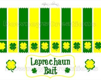 St. Patrick's Day Treat Bag Tags-Leprechaun Bait-Printable PDF-Green/Yellow