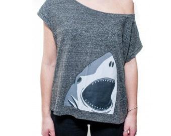 Womens Shark Printed Lounge Tee