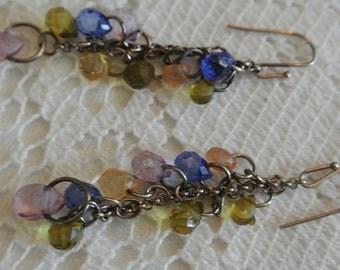 Sterling Silver Gem Stone Earrings