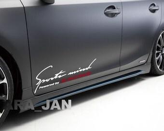 Sports Mind Powered By SPORT Vinyl Decal Sticker Sport Racing - Lexus custom vinyl decals for car