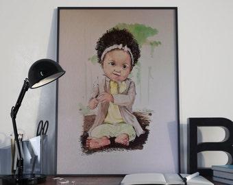 Children Portraits- Watercolor