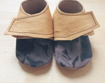 Shibori black booties