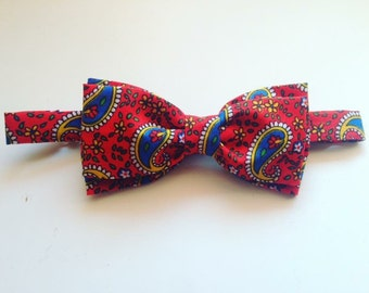 Bow tie double cashmere / paisley Red