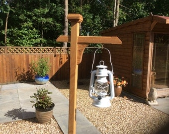 Outdoor or Indoor Tilly Lamp Post, made from solid American White Oak