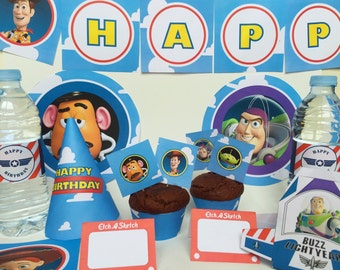 Toy Story Birthday Party - Toy Story Printable - Woody Birthday Party - Buzz Lightyear Birthday Party