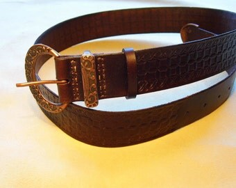 Teutonius leather belt