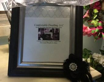 Black wood decorative frame