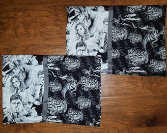 Harry Potter standard pillowcases/set of 2/Gryffindor/ Hermione/ Ron Weasley