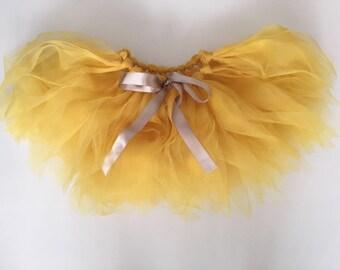 Baby girl yellow tutu skirt birthday outfit