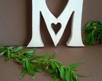Free standing  Wooden letters  Wood Letters  Letter M