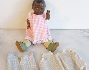 1930s Vintage Black Baby Doll