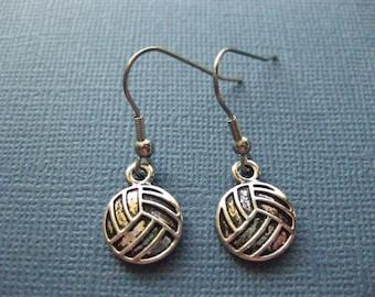 Volleyball Earrings - Dangle Earrings - Sports Earrings - Volleyball Jewelry - Sports Jewelry -- E111