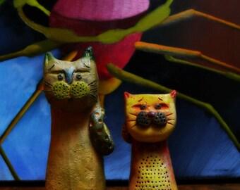 ceramic cat figurine