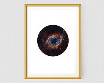 Galaxy wall art poster printable art Hubble Telescope Space Print Nebula wall art Home wall decor Universe print