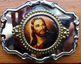 Jesus Cameo Belt Buckle