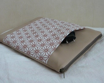 Cover shelf 10 inches, sleeve Tablet 10 inch beige leather and reasons star