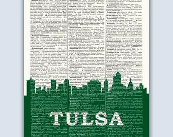 Tulsa Skyline, Tulsa Poster, Tulsa Decor, Tulsa Print, Tulsa Wall Art, Tulsa Gift, Tulsa Wall Decor, Tulsa Oklahoma, Oklahoma Wall Art