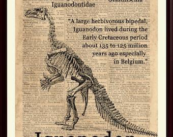 Iguanodon Poster, Dinosaur Art, Dinosaur Party Decor, Dinosaur Print, Kids Room Decor, Iguanodon Print, Dinosaur Decor, Dinosaur Poster