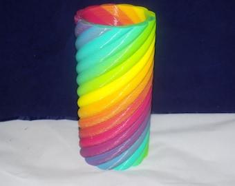 Colorful Spiral Vase