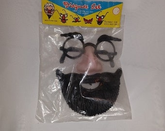 Disguise Nose, Glasses, Mustache and Full Beard, Vintage in original packaging