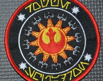 """Star Wars X-wing Rogue Squadron 4"""" """"Black Series"""" Style Patch in Aurebesh Rogue One Rogue Leader"""