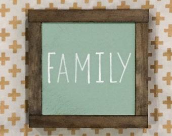 Family Wood Sign, Rustic Wall Decor, Living Room Decor, Family Room Decor