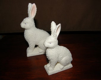 Dept 56 Easter Bunny Rabbit Set of 2