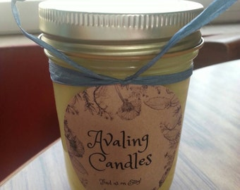 Lemon Pound Cake Scented Homemade Soy Candle