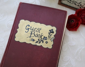 Wedding Guest Book Wedding Guestbook Vintage Wedding