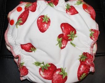 Strawberries Medium Fitted Diaper
