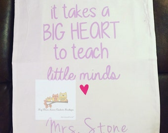 Big Heart Little Minds Custom Tote
