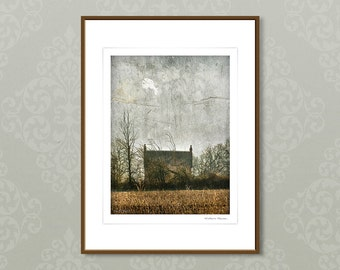 Fine art photography, textured wall art, framed giclee print, nature photography, brown grey, modern fine art print, home decor,winter house