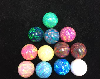 12mm undrilled Synthetic Opal Balls (no hole) Variation of colors
