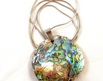 Unique artisan handmade Haliotis necklace