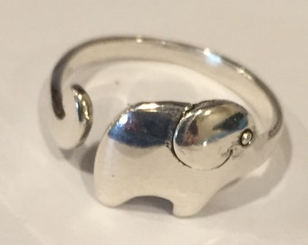 Sterling Elephant Wrap Ring